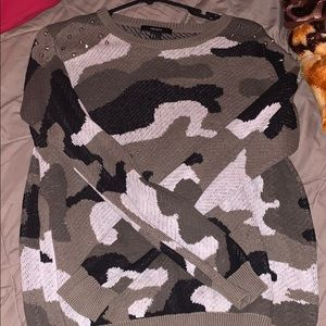 Forever 21 army jacket with studs on shoulders